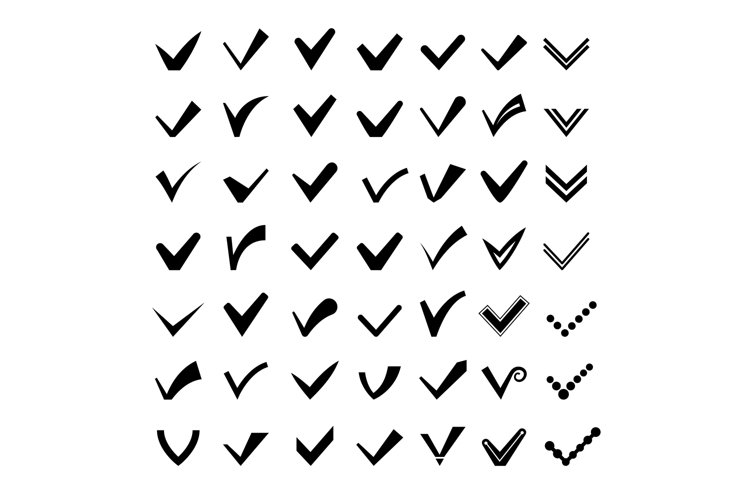 Ticks or check marks icons example image 1