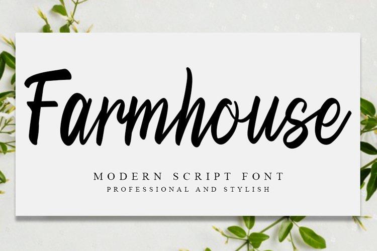 Farmhouse | Special Modern Script example image 1