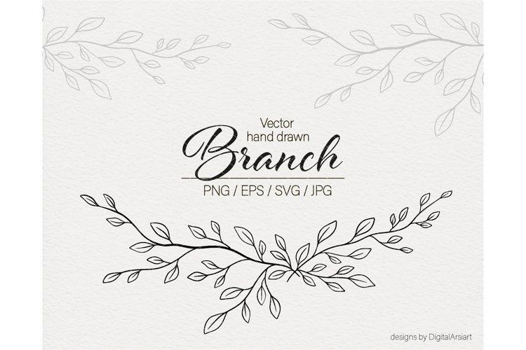 Floral border svg Branch svg Vector Floral svg file Leaves