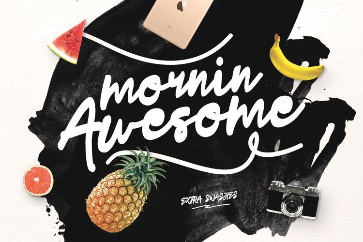 Mornin Awesome Typeface example image 1