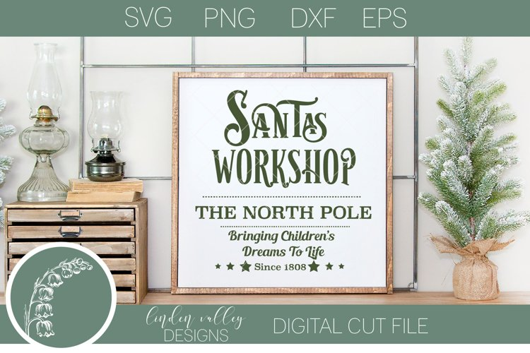 Santa's Workshop SVG|North Pole SVG|Toy Shop SVG example image 1