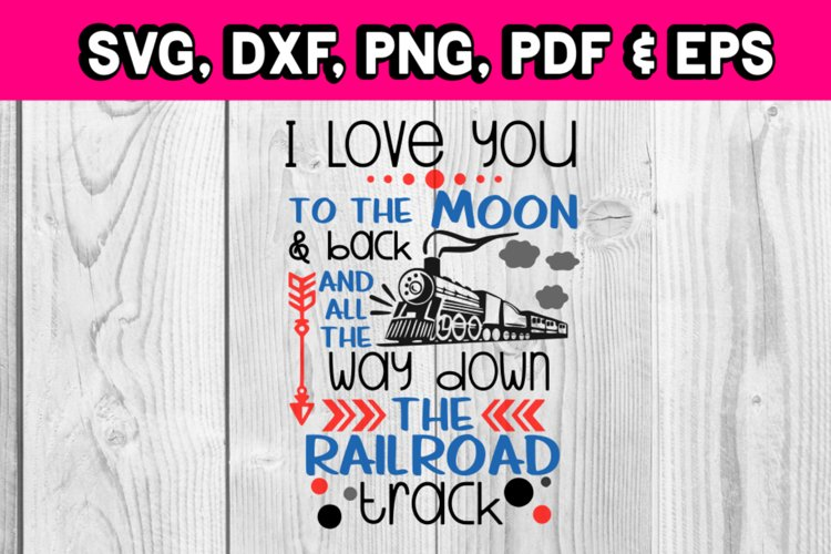 All the way down the railroad track train - Train svg