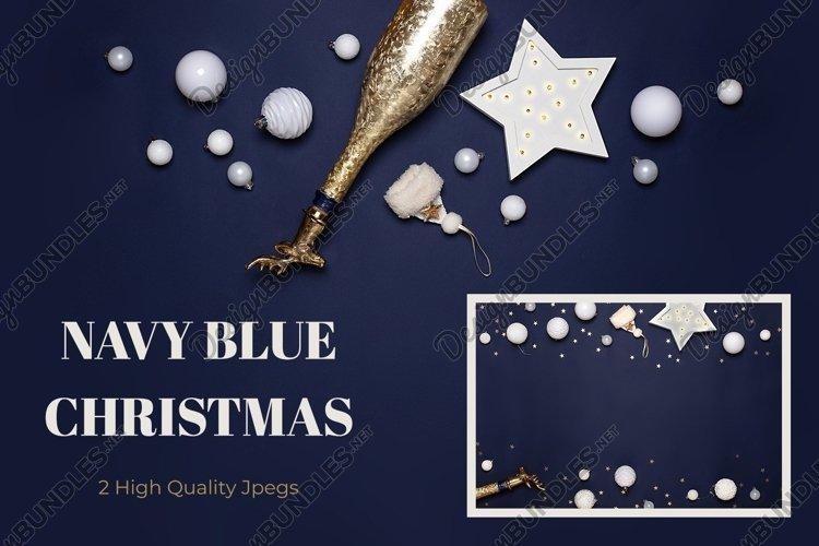 Navy blue Christmas bundle with white decor