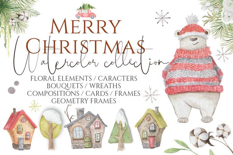 Christmas Watercolor Characters