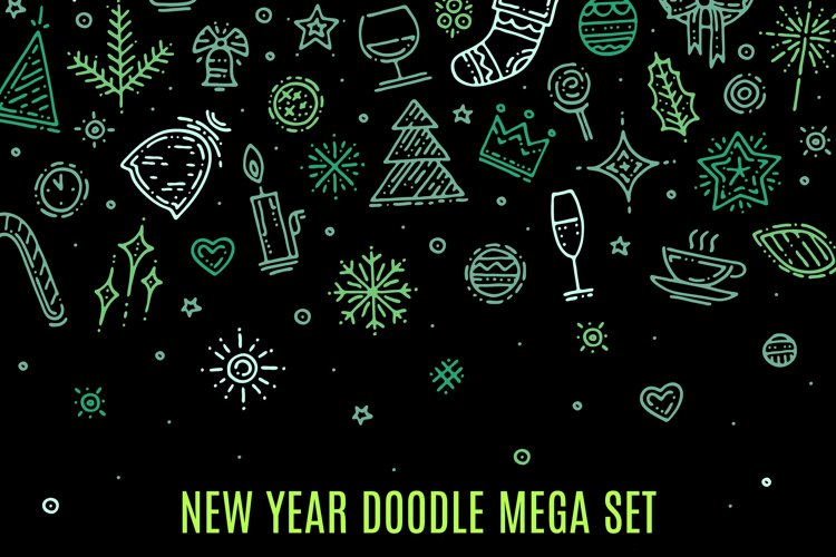 New Year doodle elements