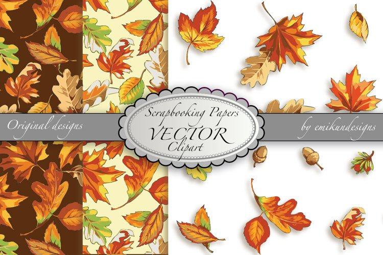 Autumn pattern and clipart