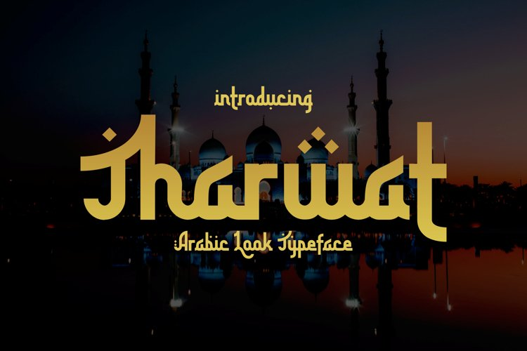 Tharwat - Arabic looking font example image 1