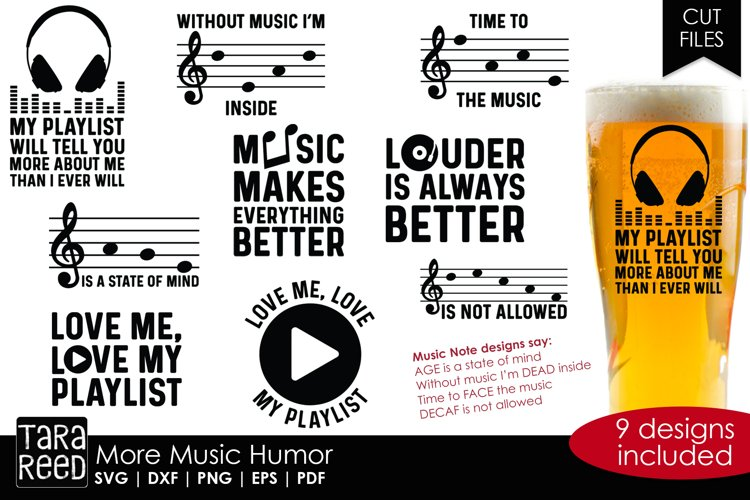 More Music Humor - Music SVG & Cut Files for Crafters