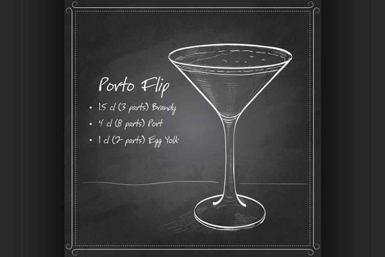 Porto Flip Cocktail on black board example image 1