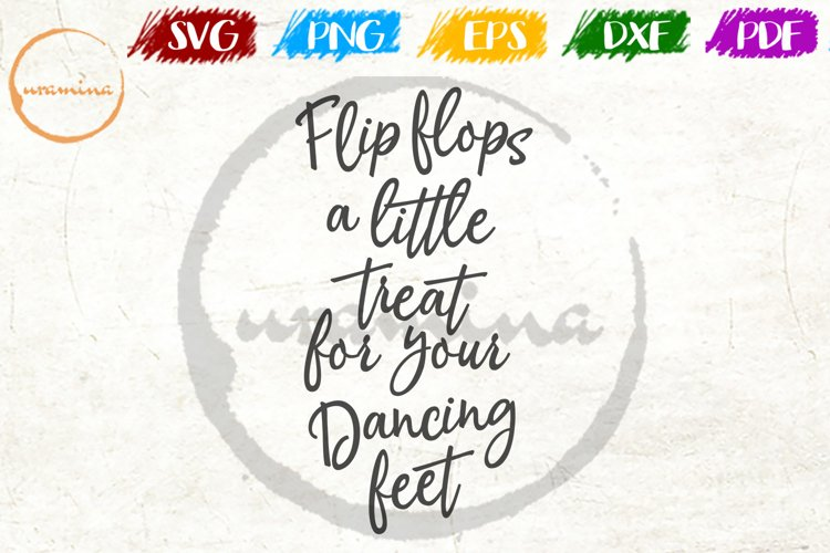 Flip Flops A Little Treat Wedding Quote Sign Art example image 1