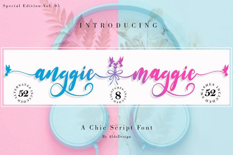 Anggie & Maggie // Modern Script example image 1