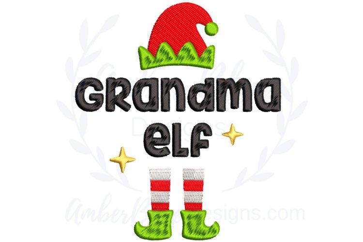 Grandma Elf Christmas Embroidery File example image 1