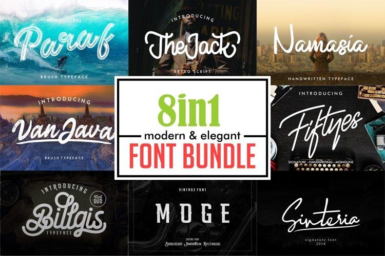 Elegant Font Bundle | Logo Font example image 1