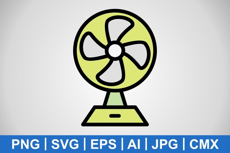 Vector Charging Fan Icon example image 1