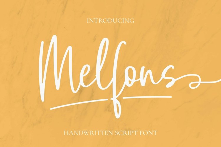 Web Font Melfons Font example image 1
