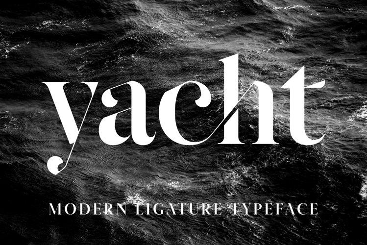 Yacht - Modern Ligature Font example image 1