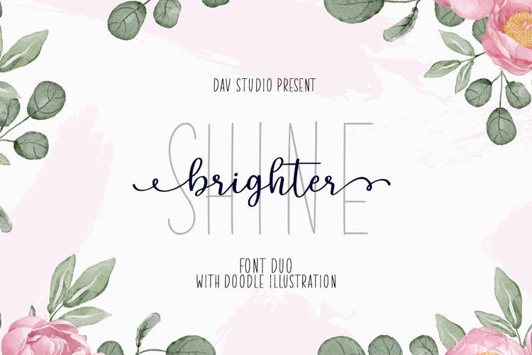 Shine Brighter - Font Duo with Extras example image 1