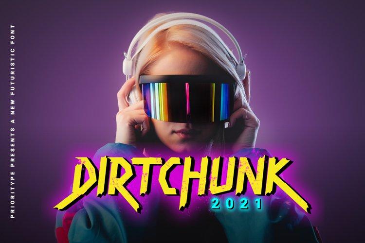 Dirtchunk - Futuristic Font example image 1