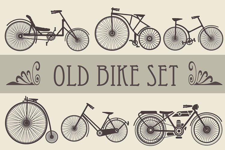 Retro vintage bikes and cars