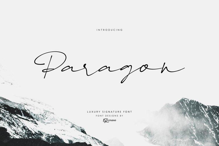 Paragon Luxury Signature Font