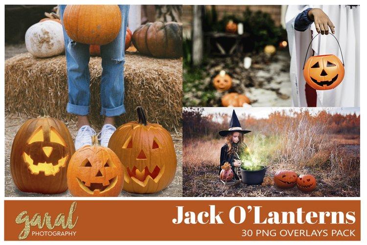 30 Jack O'Lanterns PNG Overlays Pack example image 1