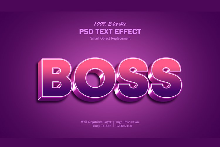Boss 2 gradient Text Effect example image 1