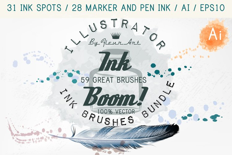 Ink brushes bundle example image 1
