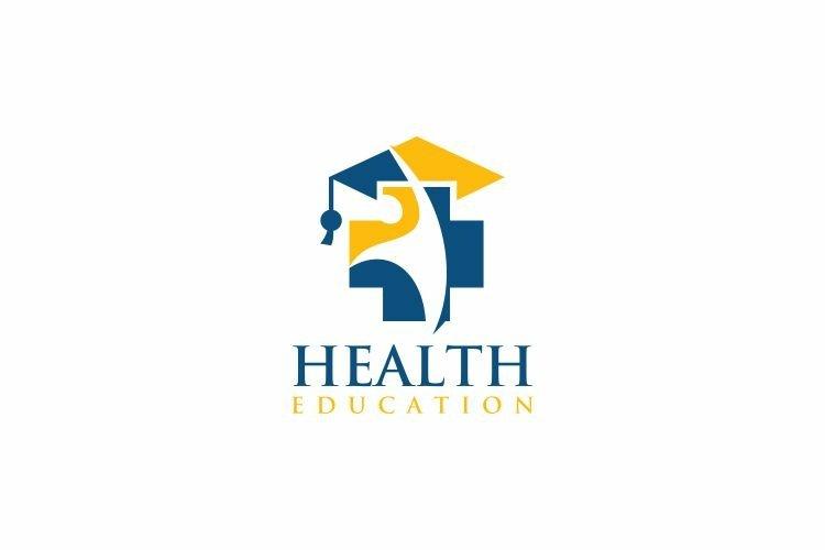 Health Education Logo Design Vector