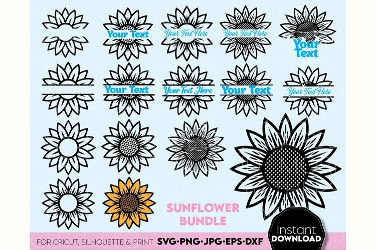 Sunflower SVG, Flower SVG, flower monogram svg
