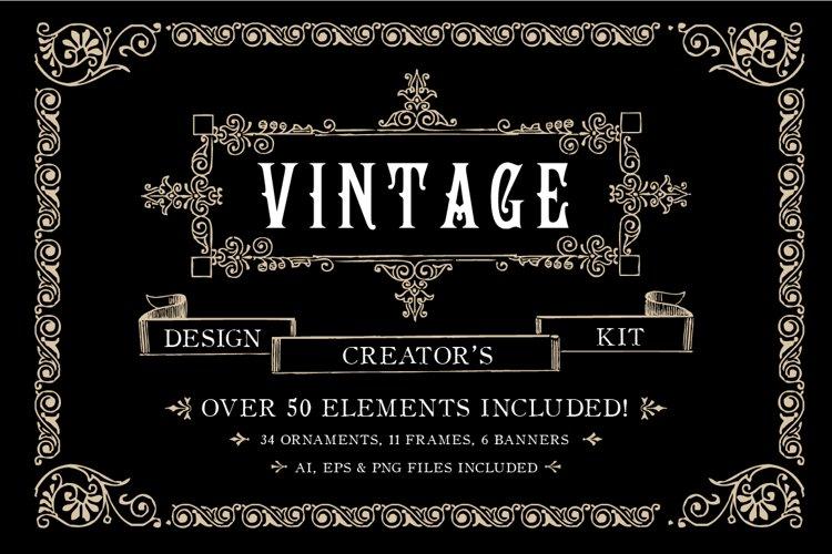 Vintage Ornament Design Creators Kit - AI EPS PNG