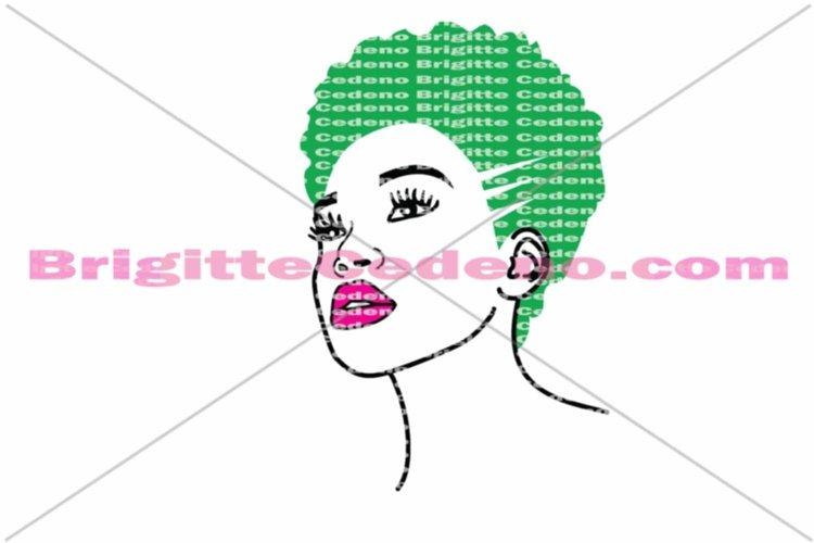 Ronda rocking a small afroa she is a dxf, svg, png, jpeg file