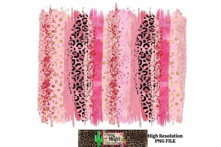Valentine Leopard Brush Stroke Dye Sublimation example image 1