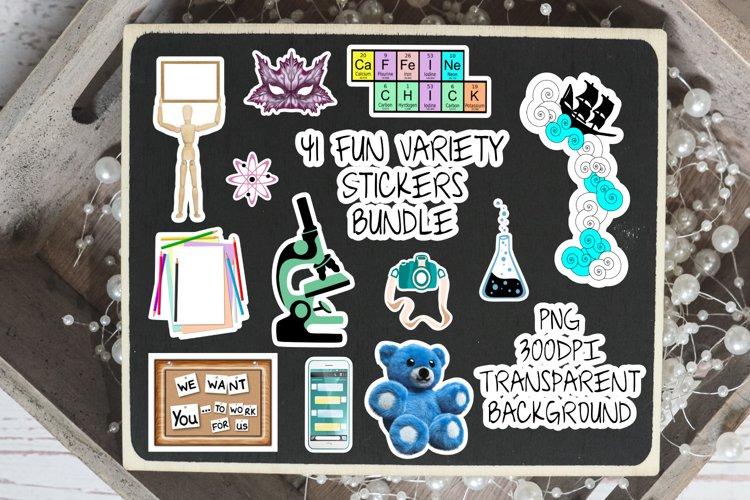 41 Sticker Bundle - Variety Fun Pack