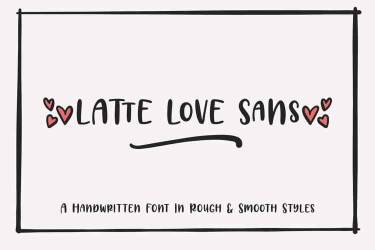 Latte Love Sans