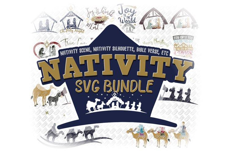 Nativity SVG Christmas Bundle in SVG, DXF, PNG, EPS, JPEG