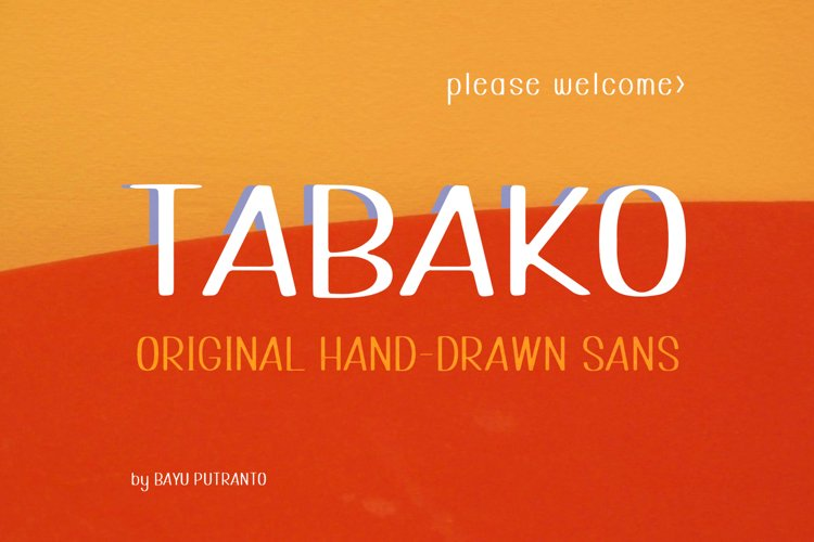 TABAKO Handdrawn Sans example image 1