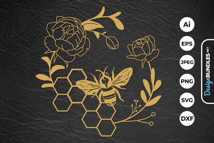 Honey Bee Papercut example image 1