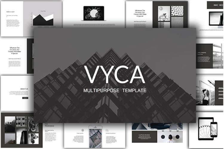 Vyca Powerpoint Template example image 1