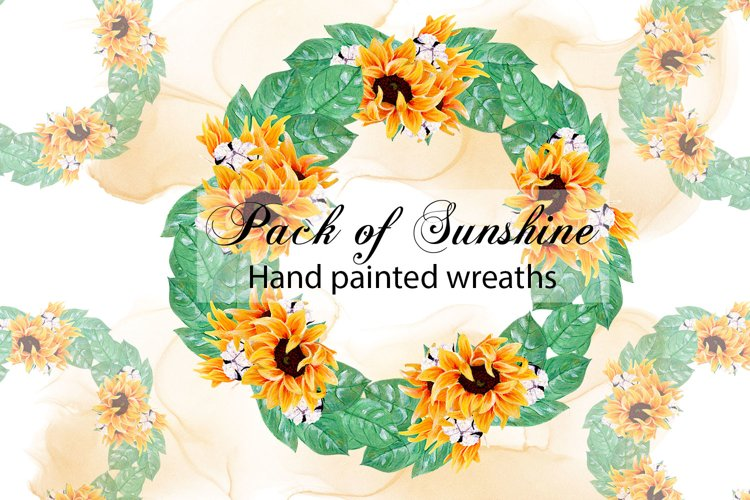 Pack of sunshine- sunflower wreaths example image 1