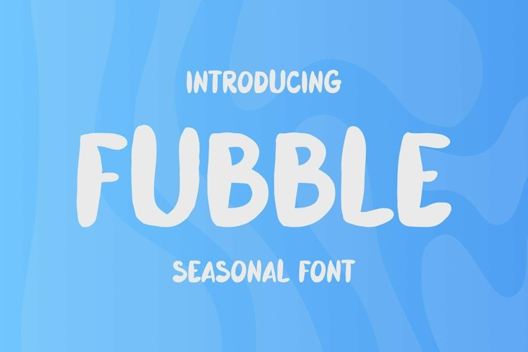 Web Font Fubble Font example image 1