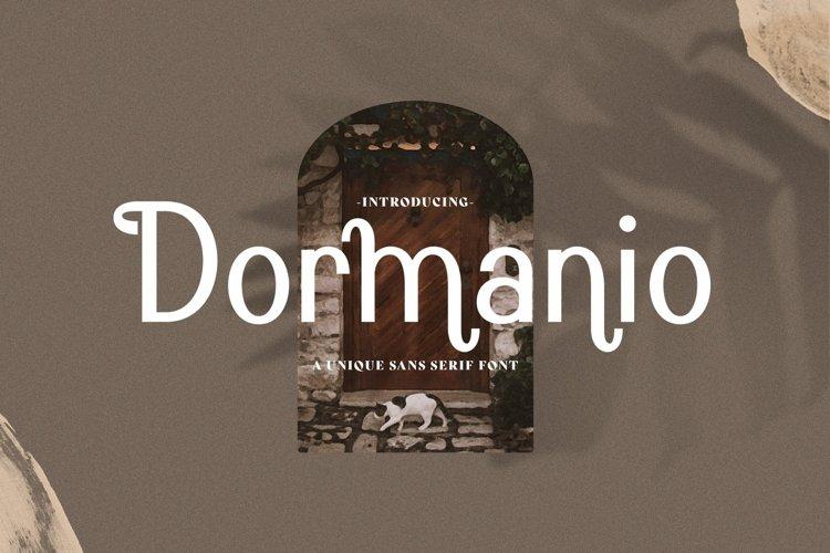Web Font Dormanio example image 1