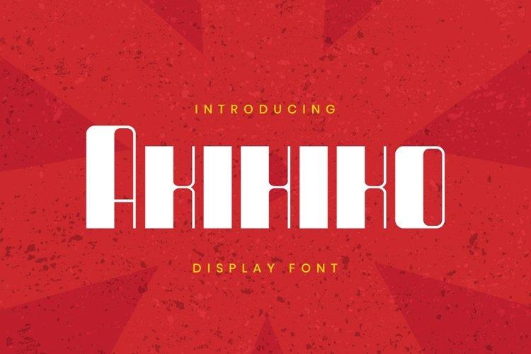 Akihiko Font example image 1