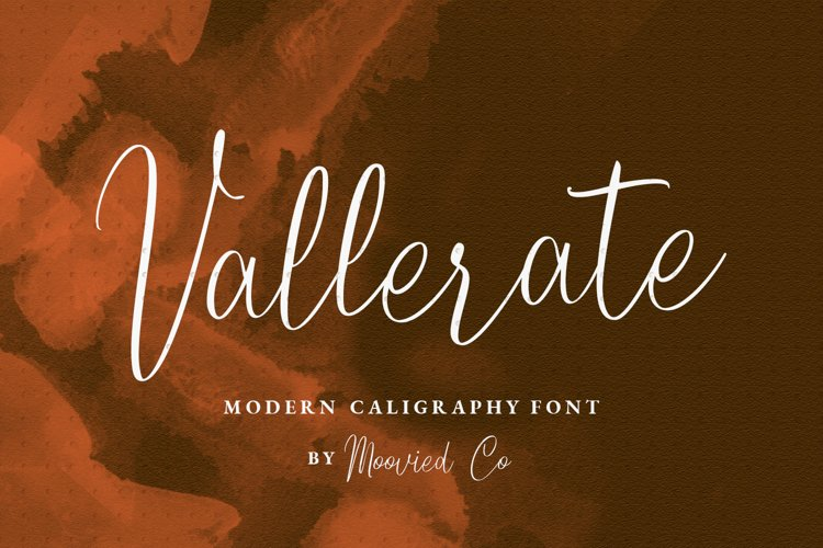 Vallerate Caligraphy example image 1