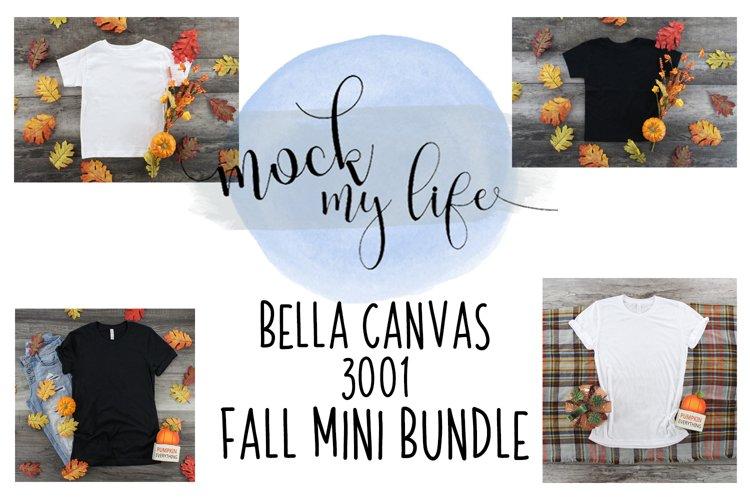 Mockup Fall Bundle - Bella Canvas 3001 - Black and White