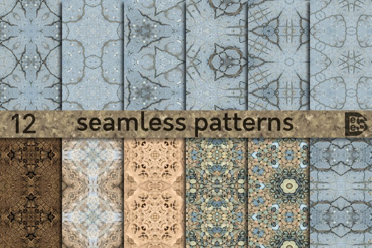 12 Abstract decorative ground texture. Seamless pattern pack example image 1