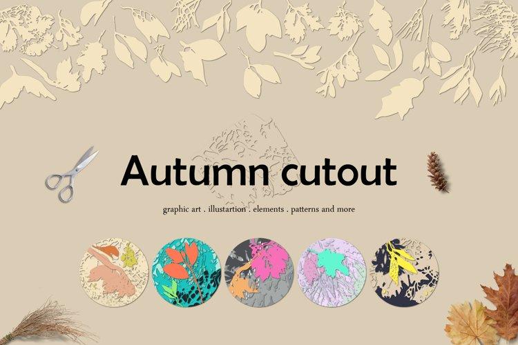 Autumn cutout - illustration, elements and pattern