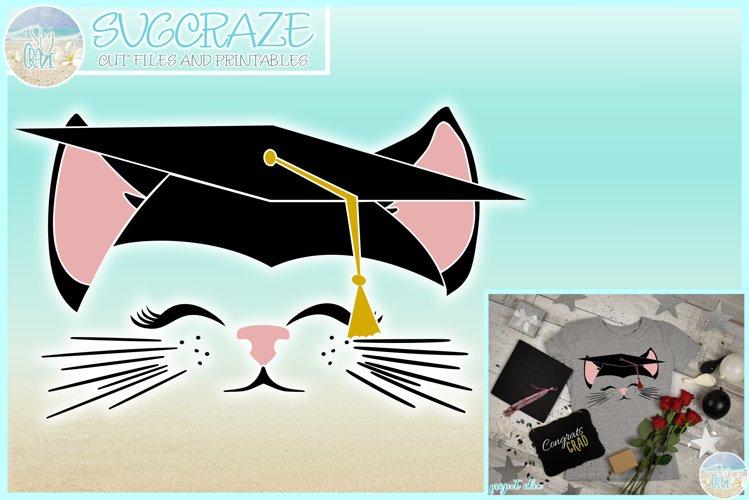 Cat Face With Graduation Cap Seniors of 2019 SVG example image 1