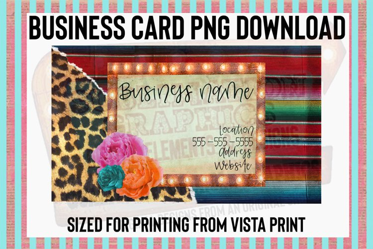 Serape Leopard Business Card Digital Download example image 1
