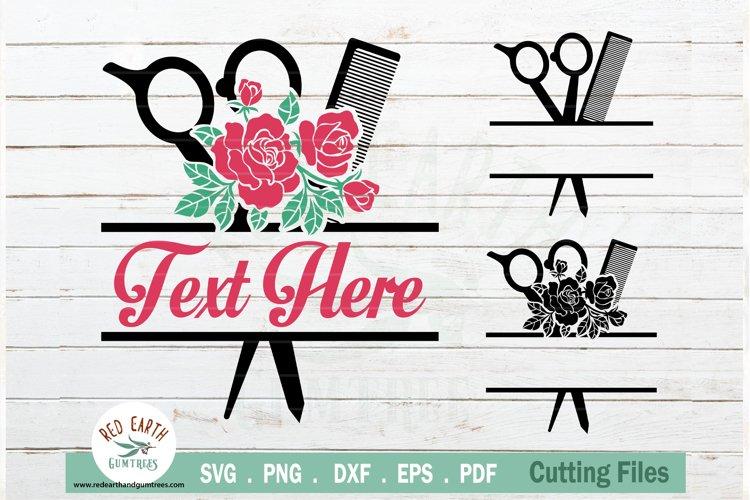 Download Floral Hairstylist Barber Rose Hairdresser Monogram Svg 769144 Cut Files Design Bundles