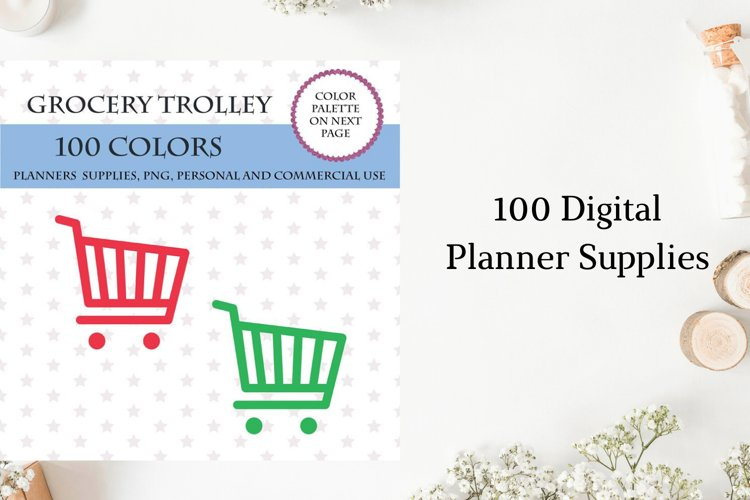 Grocery Trolley clipart, Shopping cart clipart, Grocery cart